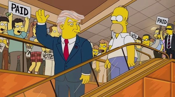 Trump en Los Simpsons