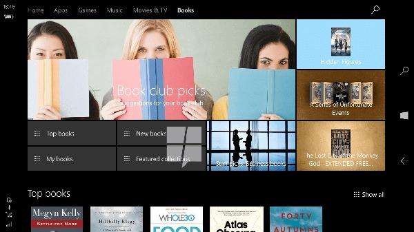 windows 10 tienda libros
