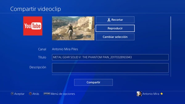 boton share ps4 compartir video 1