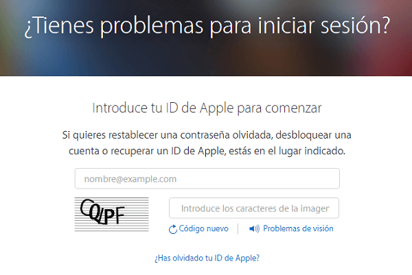 cambiar clave apple
