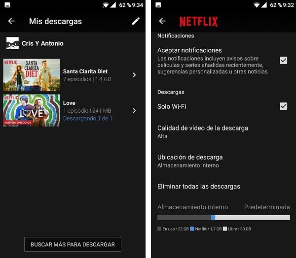 Mis descargas de Netflix