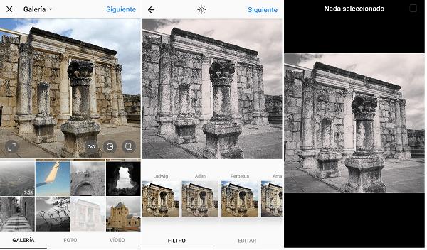 Proceso guardar imagen instagram