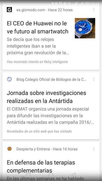 google now noticias
