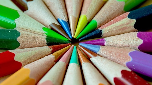 lápices colores mandalas