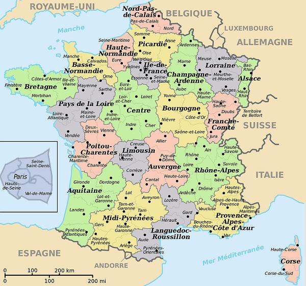mapa de francia