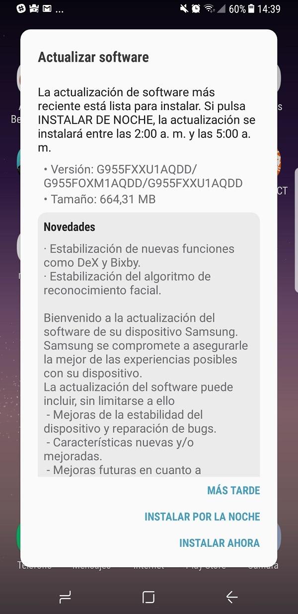 Samsung Galaxy℗ S8 actualizacion