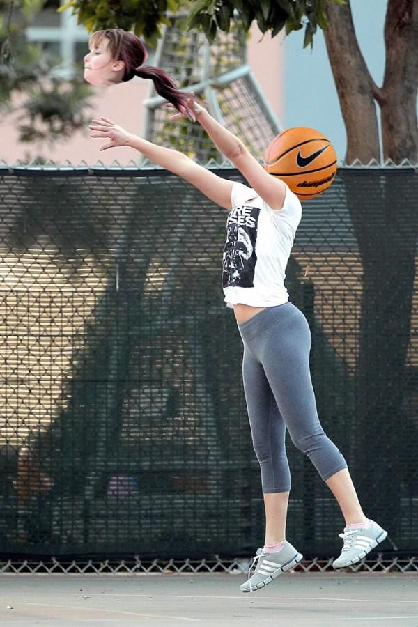 Jennifer Lawrence jugando al baloncesto montaje