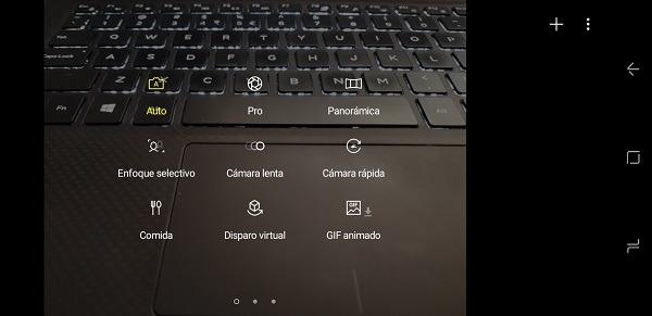 Modos de la camara del Samsung Galaxy S8+