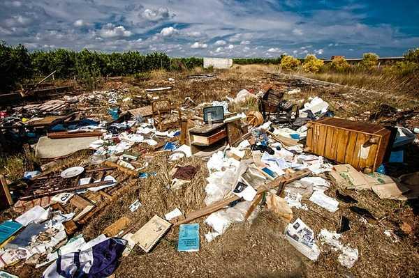 Basura sin reciclar correctamente