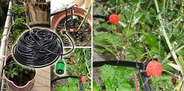 25m DIY Automático Micro Drip Irrigation System 30