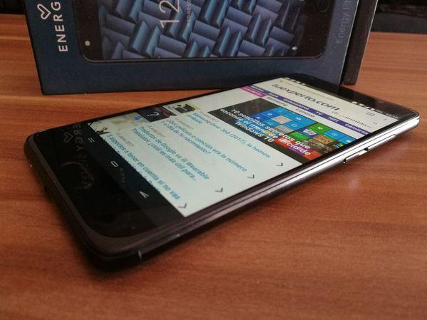 Energy Phone Pro tres pantalla