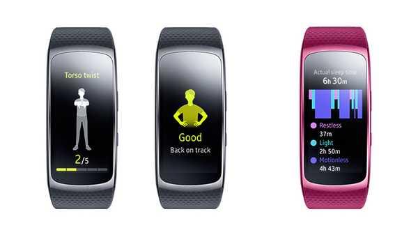 Samsung Gear Fit2 estiramientos y sueño