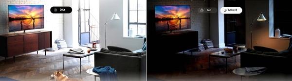 Samsung QLED luz ambiente