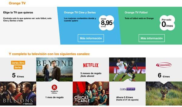 tarifas fibra 300 con Movistar, Vodafone℗ y Orange℗ one de love con una linea y tele