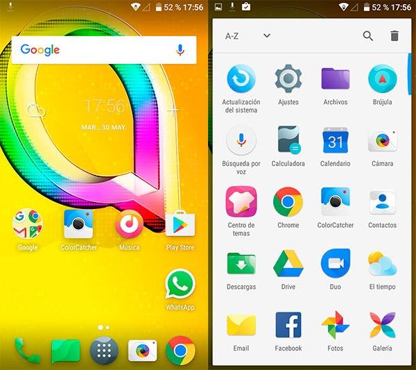 prueba Alcatel A5 LED Android 6