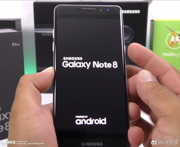 samsung galaxy note 8 frontal