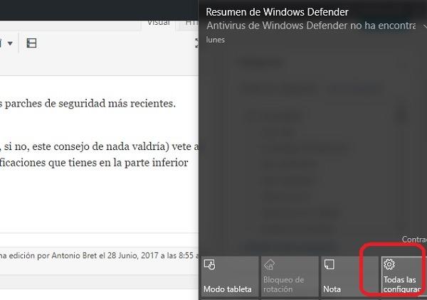 todas las configuraciones windows 10