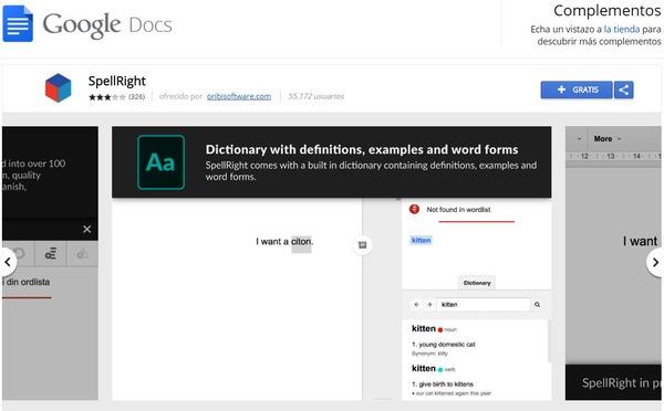 GoogleDocs ext spellright