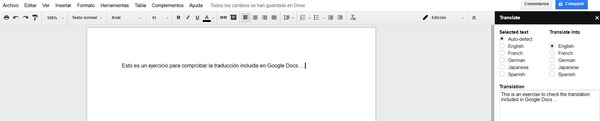 GoogleDocs ext translator