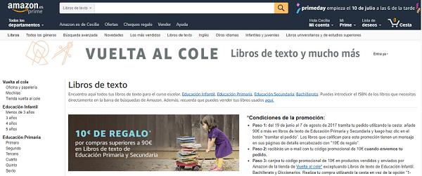 Amazon libros de texto