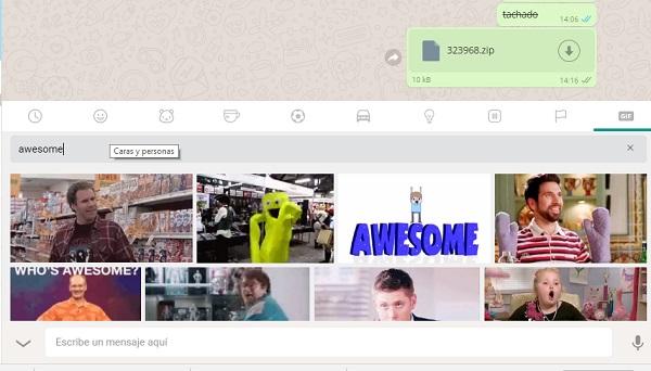 buscar gif whatsapp web