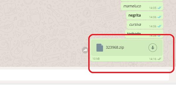 enviar ficheros whatsapp web