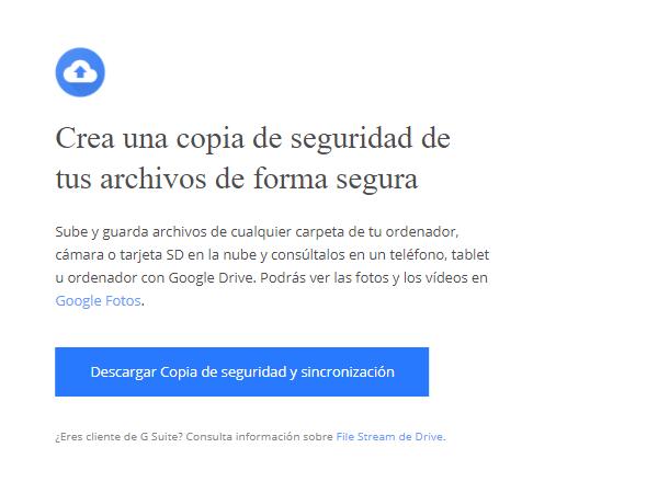 copia seguridad google