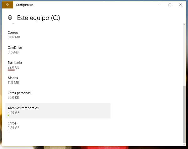 windows 10 configuración