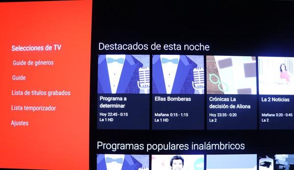 prueba Sony A1 OLED sistema operativo play store epg