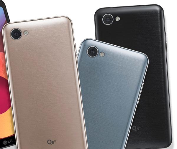 lanzamiento LG Q6, Q6+ y Q6a camara