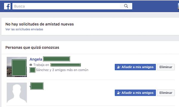facebook solicitudes pendientes