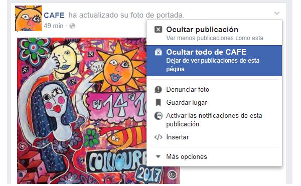 Facebook que no te muestre