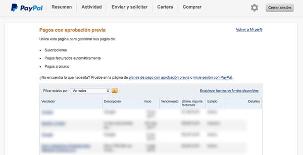 20 preguntas y contestación PayPal anular pagos con aprobación previa