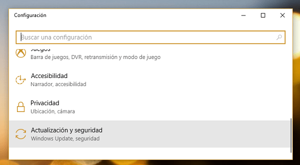 configuración windows