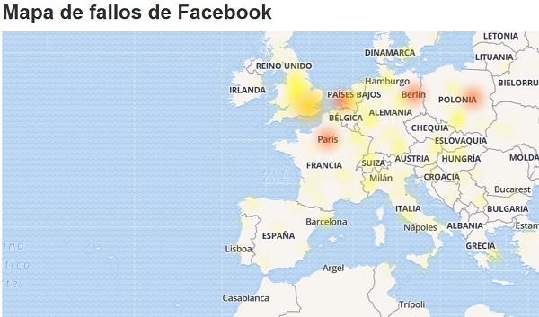 mapa de fallos facebook