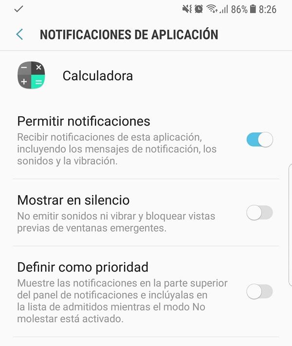 Definir la prioridad de notificaciones en el Note 8