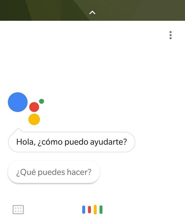 pantalla asistente google