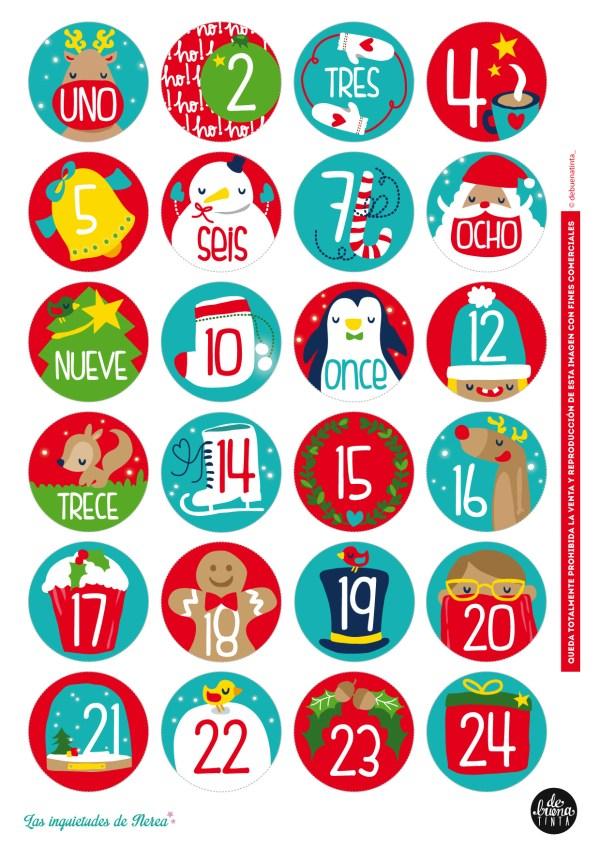 10 imágenes de calendario de adviento bonitas para descargar e imprimir