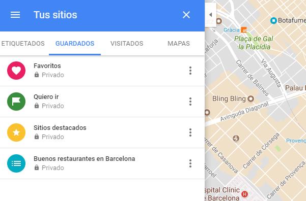google maps lugares