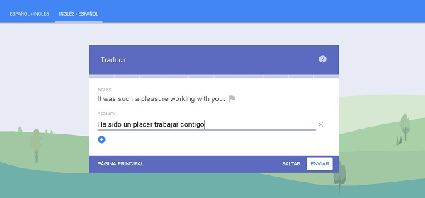 traducir frases en la comunidad del traductor