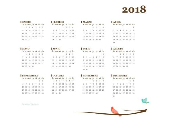 Calendario 2018 tuexperto