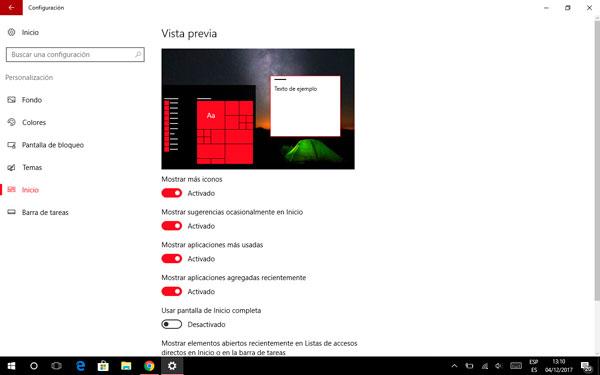 cómo crear carpetas menú inicio Windows 10 ampliar menú
