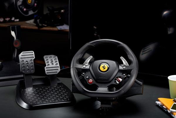 volante Thrustmaster T80 Ferrari 488 GTB Edition botones