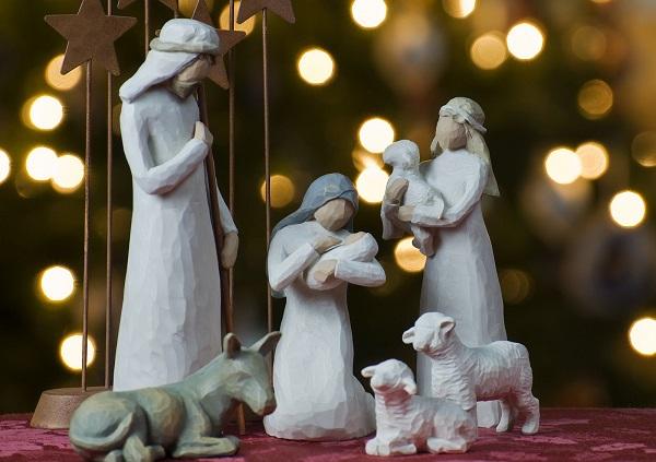 Imágenes con el Belén de Navidad