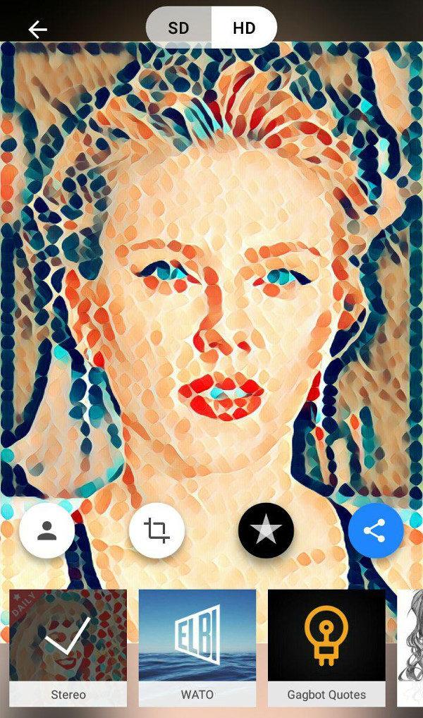 Convertir foto en dibujo - Scarlett Johansson Prisma