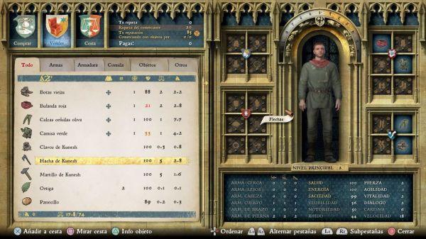 Kingdom Come: Deliverance hoja personaje