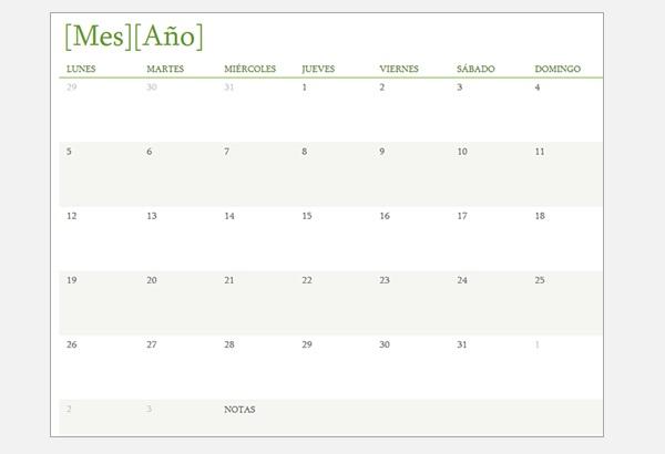 Más plantillas de calendarios de vacaciones para imprimir
