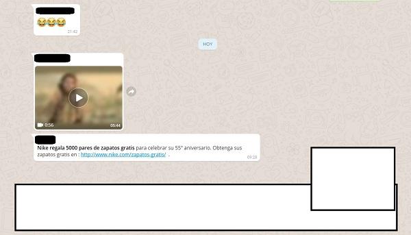 estafa whatsapp nike
