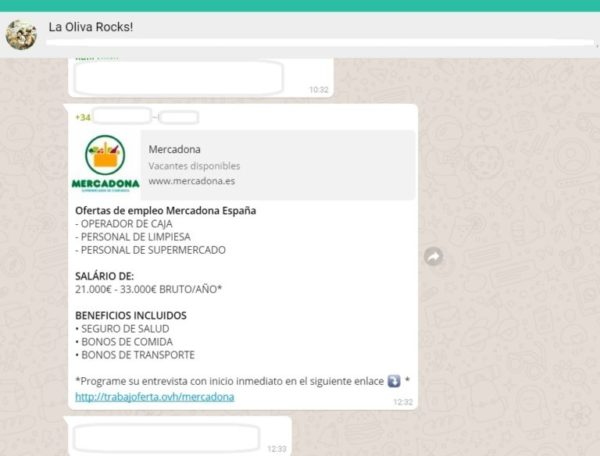 mercadona whatsapp