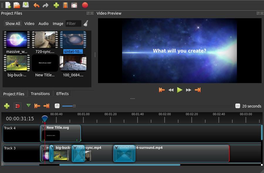 Programas de edicion de video gratis – Openshot